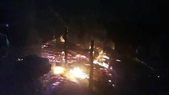 Incendio acaba con una vivienda en la comarca Miranda en Bonanza