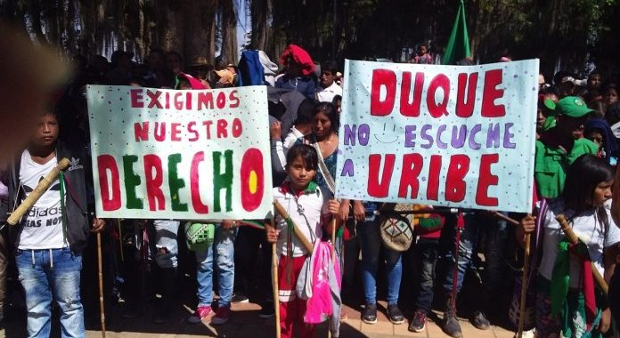 Seguiremos alzando la voz de resistencia, para continuar posicionando la palabra y los compromisos acordados con el Gobierno Nacional, Colombia