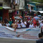 Caminatas en la Costa Caribe en día mundial del donante de sangre
