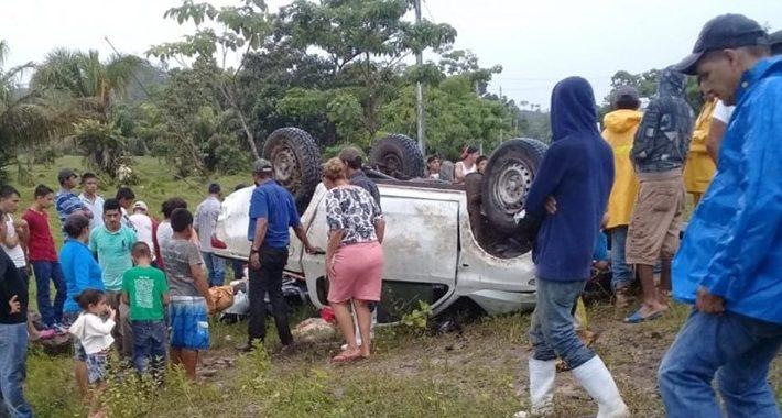 Un muerto y seis lesionados en accidente en el Guineo, Siuna