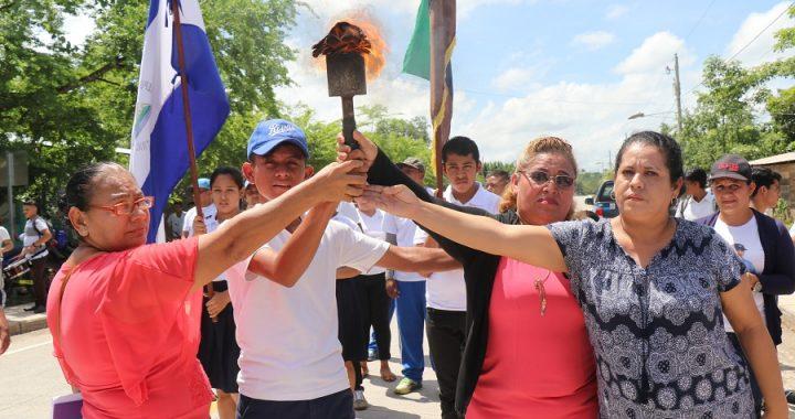Antorcha de la Libertad recorre el caribe de Nicaragua