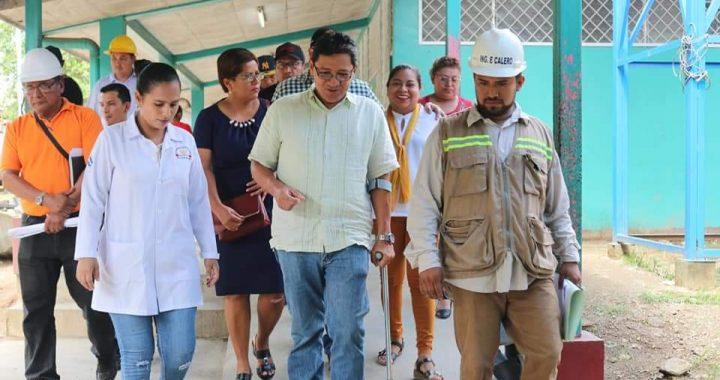 Viceministro de salud constata avances en construcción de hospital en Siuna