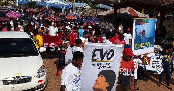 Caribe sale a las calles en apoyo a Evo Morales