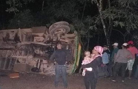Otro transporte de Bilwi se accidenta al salir de Managua