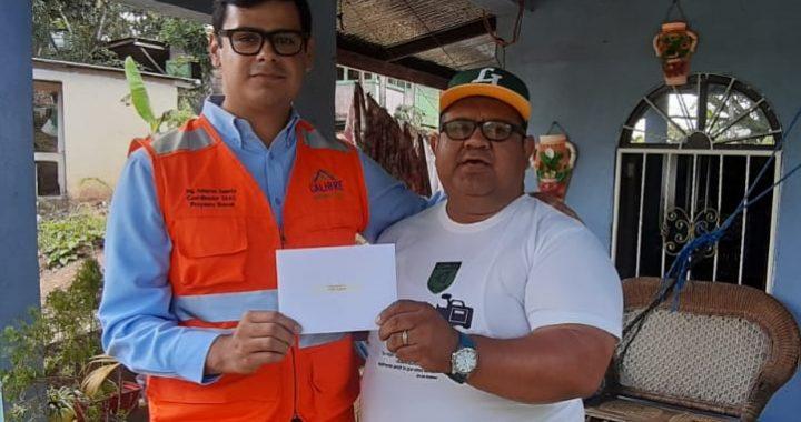 Calibre envía tarjeta regalo a periodista de la costa Caribe de Nicaragua