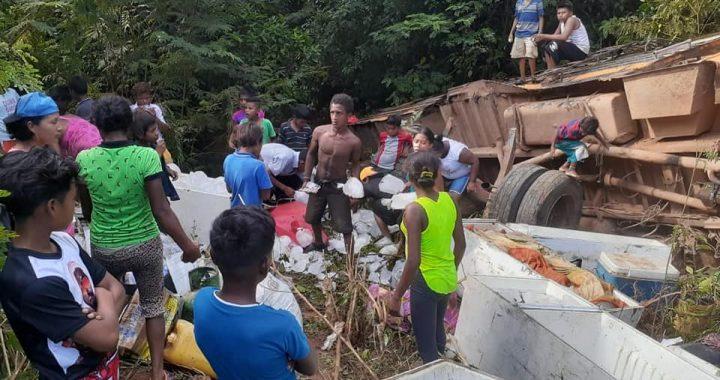 Dos buses volcados en el Caribe Norte hay varios lesionados en Waspam