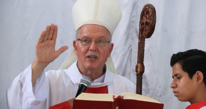 Santa Eucaristía por el eterno descanso de Su Excelencia Monseñor David Zywiec preside Su Excelencia Monseñor Pablo Schmitz y Su Eminencia Cardenal Leopoldo José Brenes en vivo desde Catedral de Managua.