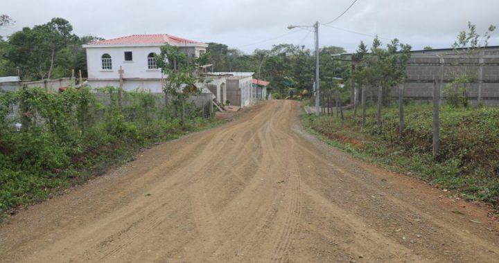 Mas calles de macadán para pobladores de Siuna